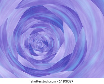 Abstract background of blue textured spiral.