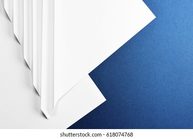 Abstract background in blue and white. Copy space
