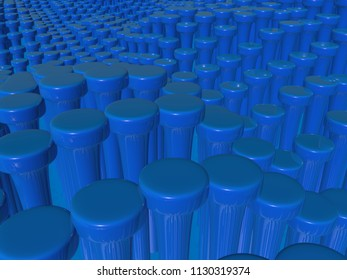 Abstract background in blue.3d illustration