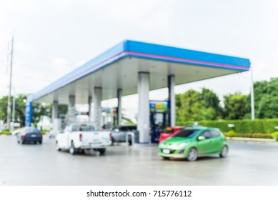 abstract background of blur oil station