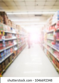 Abstract background blur photo of supermarket shopping.