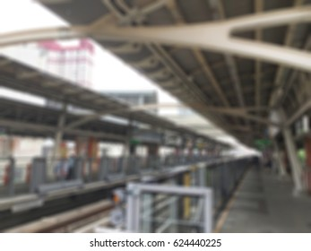 Abstract background blur sky train.