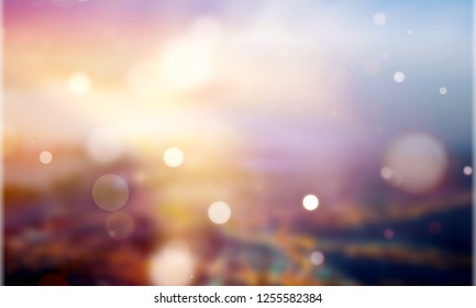 Abstract Background blurred lighting and sunrise in the morning sky