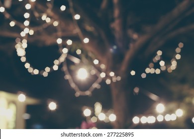 abstract background with bokeh defocused lights and shadow, blurred lights , party lights
