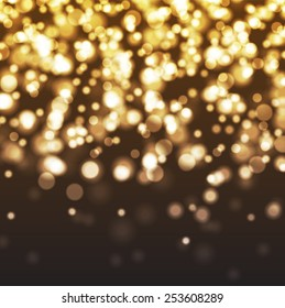 Abstract background of bokeh lights and stars