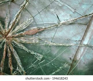abstract background with broken glass