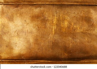 Abstract background from bronze sheet metal