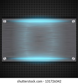 Abstract background with brushed metal inset