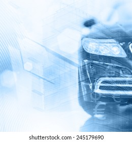 Abstract background. Car insurance concept