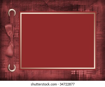 Abstract background with card for greeting or congratulation with bow