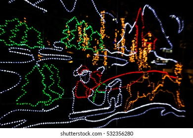 Abstract  background of Christmas lights / Christmas  background / blur of Christmas wallpaper decoration concept