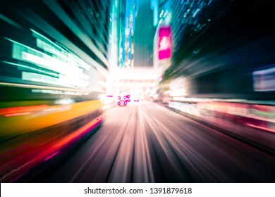 Abstract background of city in motion blur
