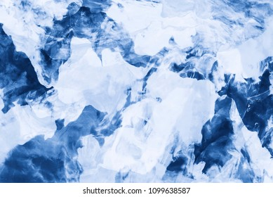 Abstract background from clay texture in blue and white color tone.