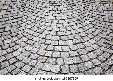 Abstract background of cobblestone pavement