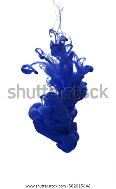 Abstract background with color cloud of ink in water isolated on white. Paint splash.