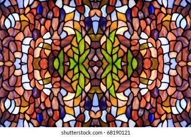 Abstract background from color fragments of glass