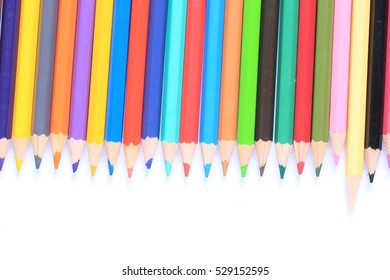 Abstract background from color pencils with space for text on white background