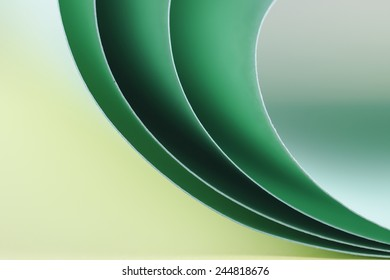 Abstract background with colored paper.