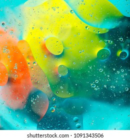 abstract background of colored spots circles on the water