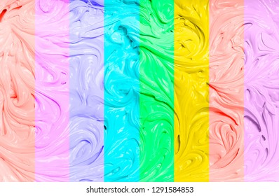 Abstract background with colored stripes, on a wavy texture.