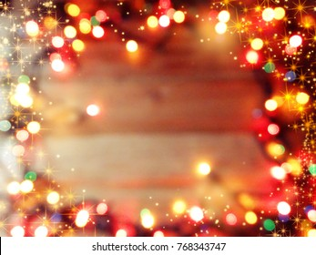 abstract background colorful blurred christmas light garland