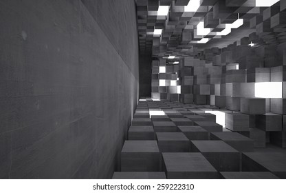 Abstract background of concrete cubes