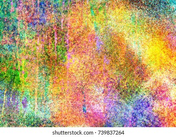 Abstract background consisting of different coloured bright joyful colors