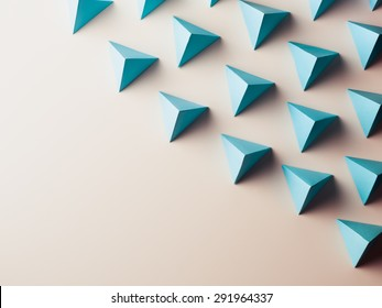 abstract background consisting of paper geometric shapes. copy space available