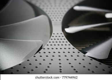 Abstract background of cooling system, radiators and fans