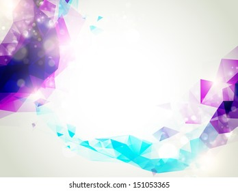 Abstract Background With Copyspace In Violet and Turquoise