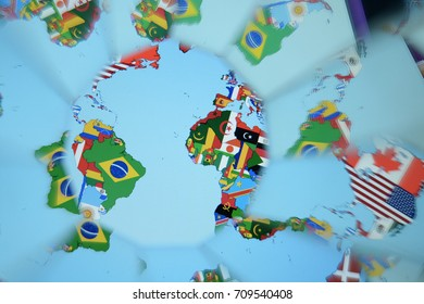 Abstract background, countries