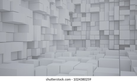 Abstract background with cube 3D Rendering 3D illustration