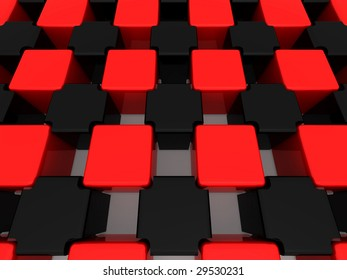 Abstract background. Cubes. 3d