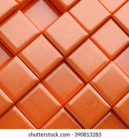 Abstract background with  cubes. 3d render