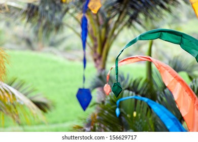 Abstract background of decoration in Bali, Indonesia