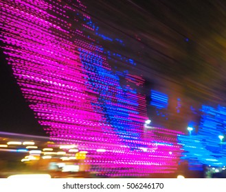 Abstract Background of Defocused Lights of decorations lights from tree.