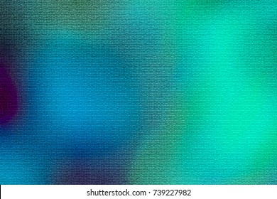 Abstract background defocused photo with blue turquoise and green. Watercolor painting effect with colors merging into each other with a mosaic texture and space for text.