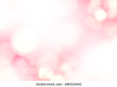 Abstract Background Defocused Spots Light Pastel Colors White Gentle Pink Toned Photo Boke Banner Long Web Design