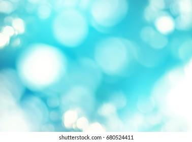 Abstract Background Defocused Spots Light Pastel Colors White Blue Toned Photo Boke Banner Long Web Design