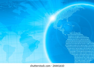 Abstract background depicting the digital world.