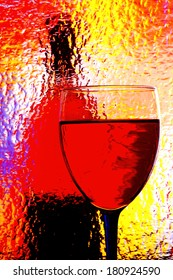 Abstract background design made from an  wine glass  and bottle.
