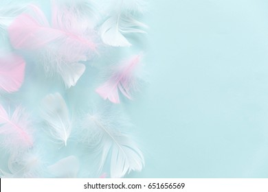 abstract background. Background for design with soft colorfull feathers pattern.