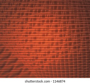 Abstract background of distorted grid behind simulated TV scan lines with slight vignette and blur