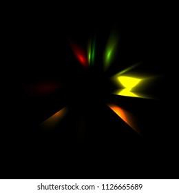 Dynamic Rays Of Light Motion Wallpaper Graphic Illustration