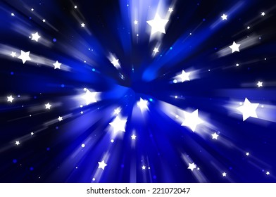abstract background. explosion star on blue