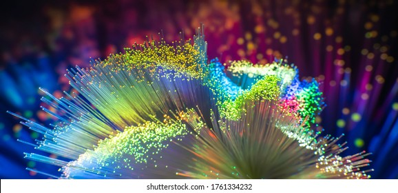 abstract background of fiber optic network cables - Shutterstock ID 1761334232