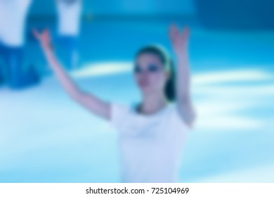 Abstract background Figure skating, ice show