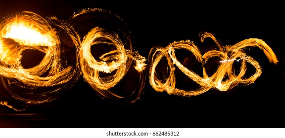 Abstract background of flame on fire show