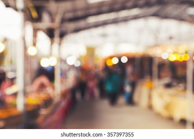 Abstract Background Of Flea market