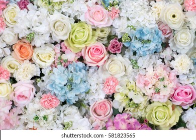 Abstract background of flowers. Close-up. flower bouquets , bunch of flowers.